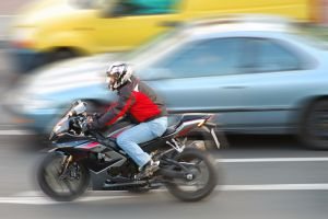 Practicing Careful Motorcycle Lane Splitting