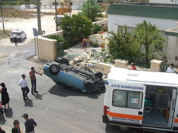 Heights Overturned Vehicle