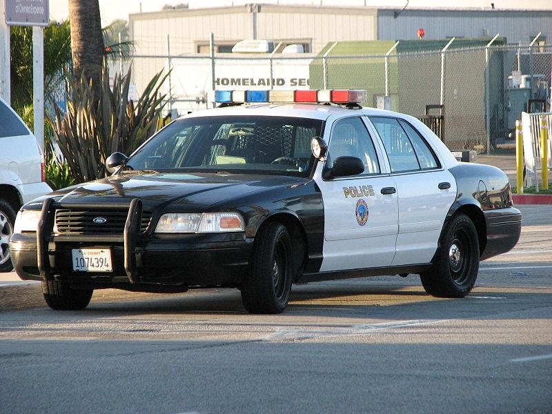 Car Hits Police SUV
