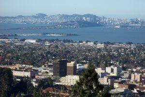 Berkeley-downtown-Bay-bridge-SF-in-back-from-Lab-300x200