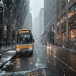 bus-snow
