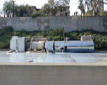 Rocklin Truck Accident Causes Slippery Conditions