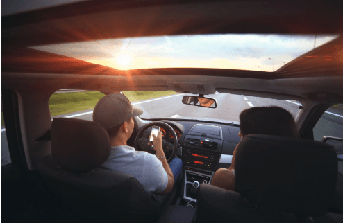 Distracted Driving Rates Rising