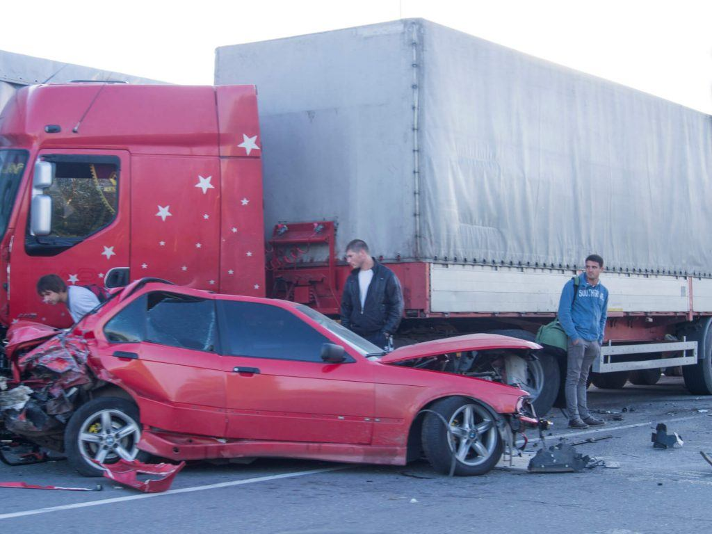 Truck Accident Injures Woman Near Merced