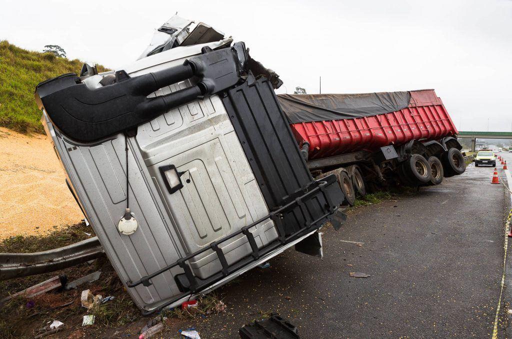 Truck Accident Causes Gravel Spill Near Merced