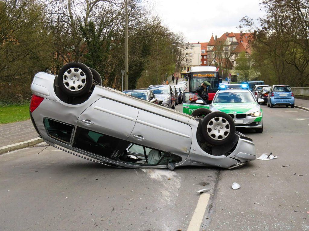 Overturned Vehicle Accident in Brentwood