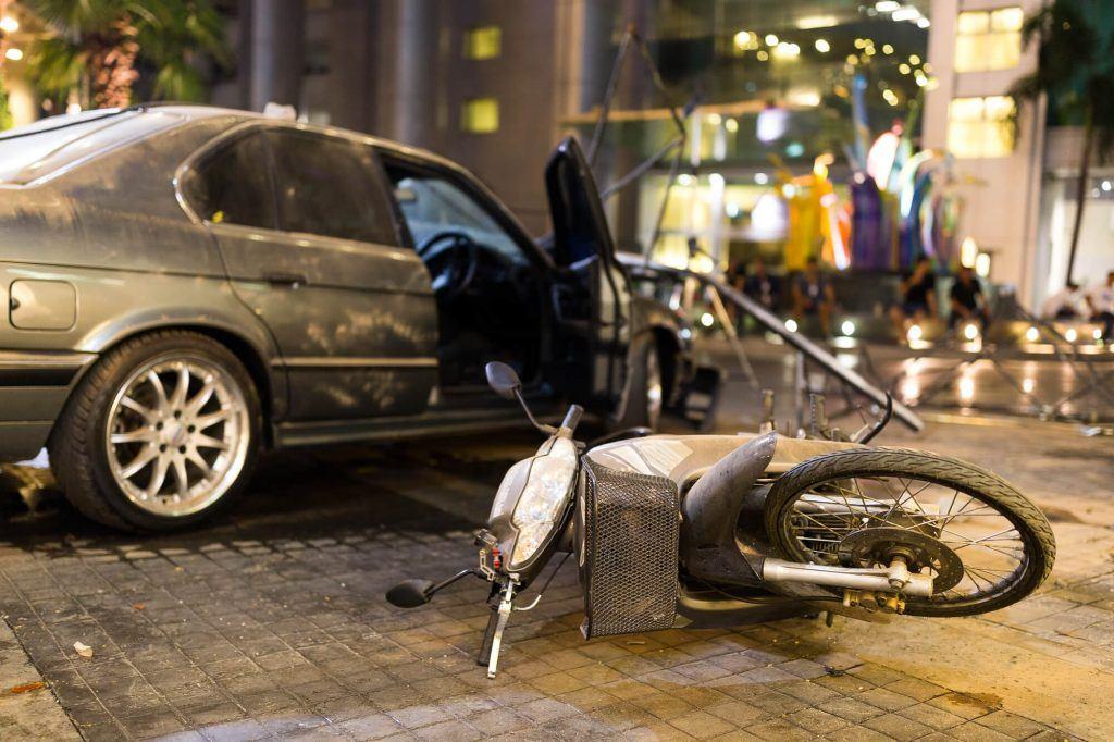 Stockton Motorcycle Accident Involving Traffic Pole