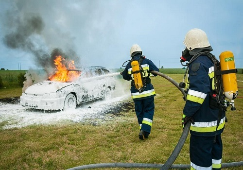 Car Fire Accident on Highway 99