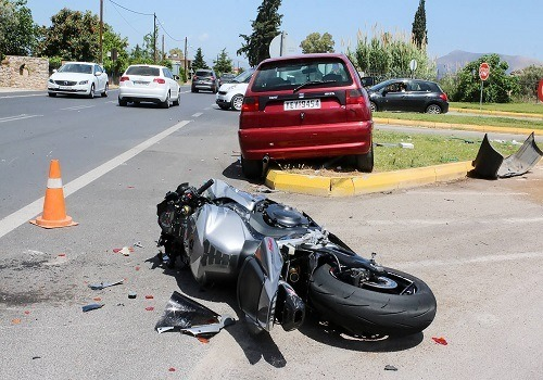 Motorcycle Rider Injured in La Riviera Accident