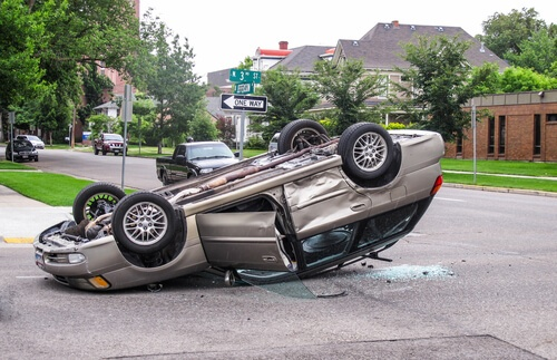Two Injured in Tracy Rollover Accident