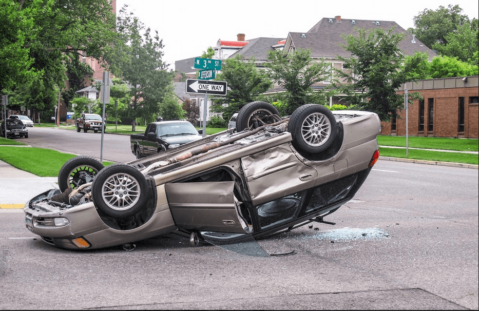 Driver Injured in Brentwood Rollover