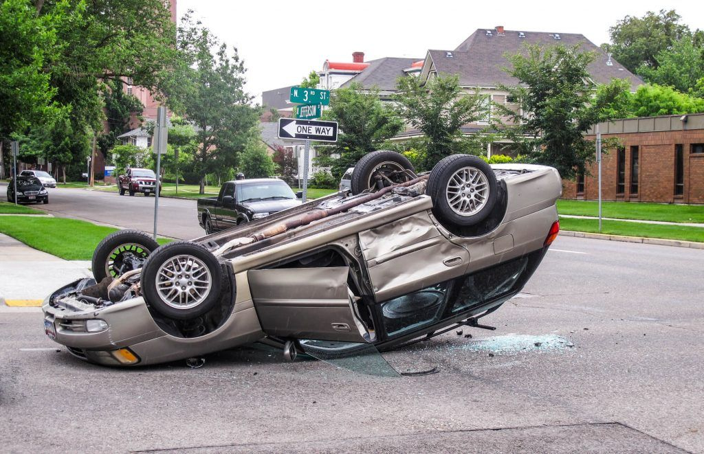 One Hurt in Woodland Rollover
