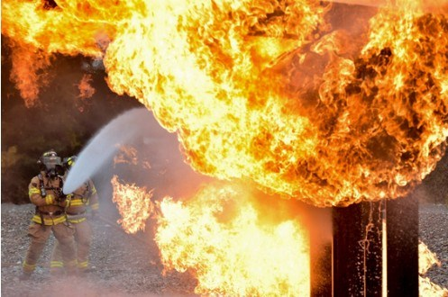 Firefighters Light Training Fires in South Vacaville
