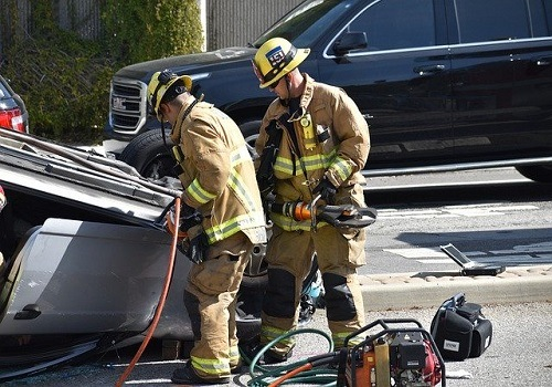 Intersection Crash in North Highlands Involves Rollover