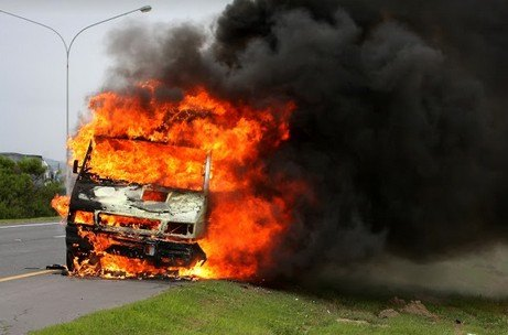 Two Injured in Fiery Auto Accident Near Oroville