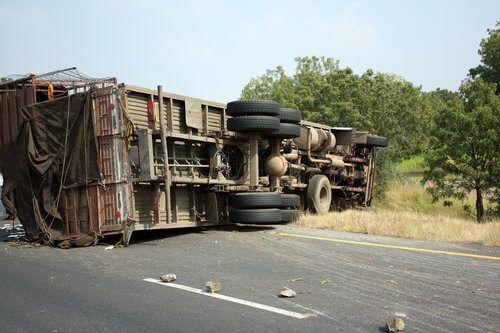 Crash Involving Overturned Big Rig in Stockton