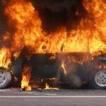 Two Seriously Hurt During Fiery Davis Auto Accident