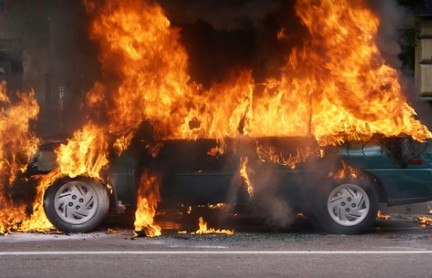 One Hospitalized After Fiery Collision in Red Bluff