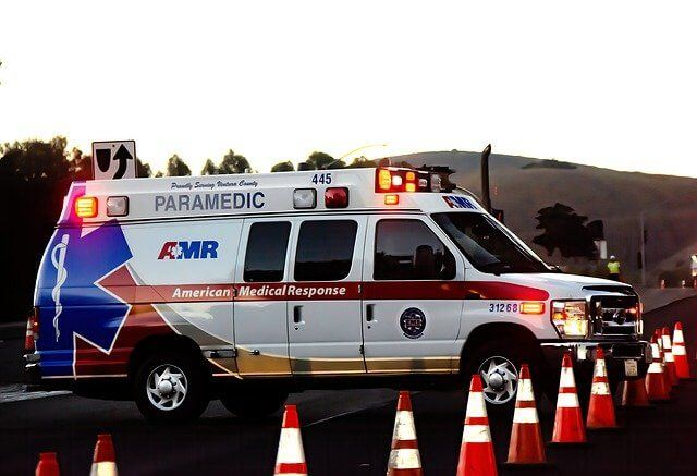Tiguan accident - ambulance